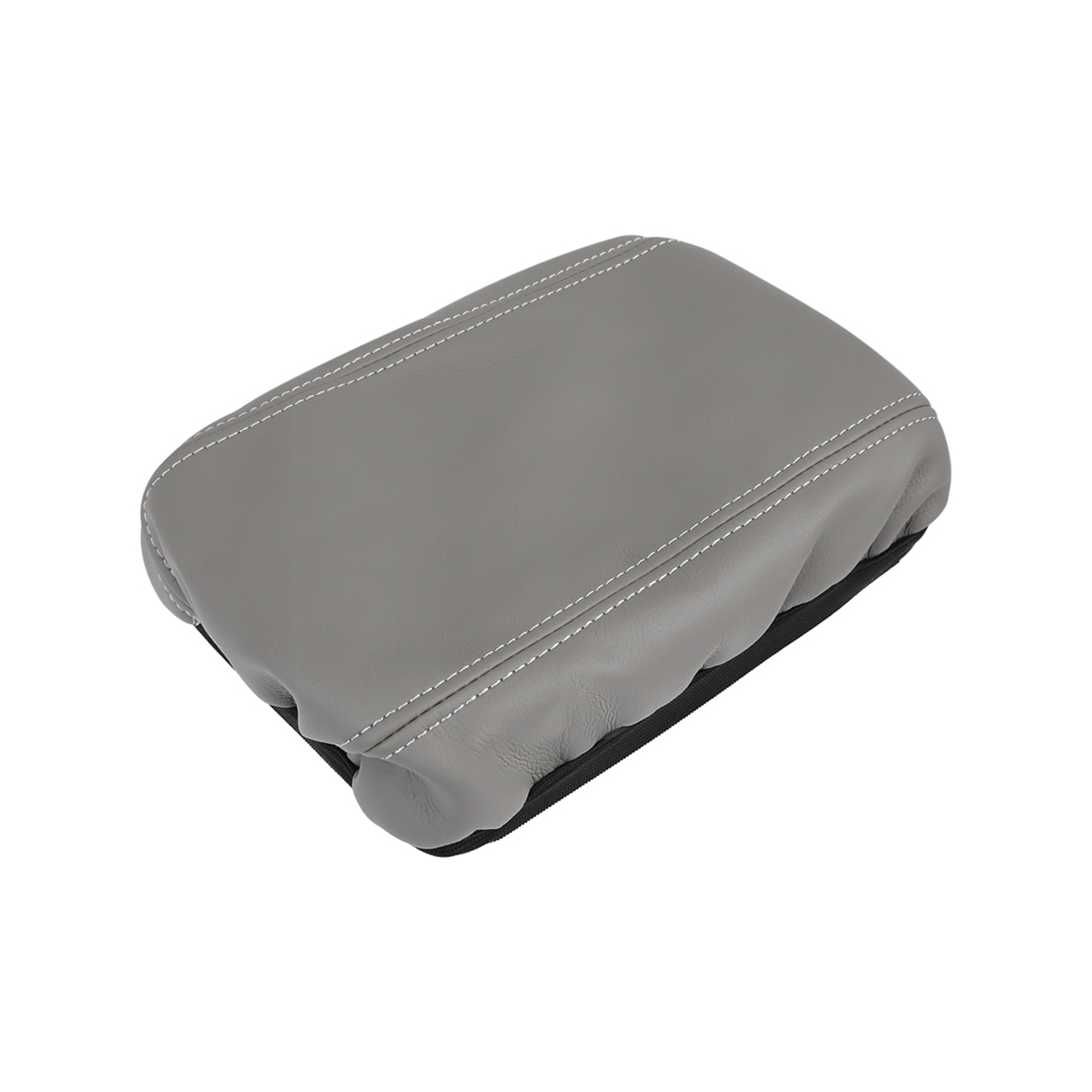Microfiber Leather Center Console Lid Armrest Cover Gray for 2006-11 Honda Civic