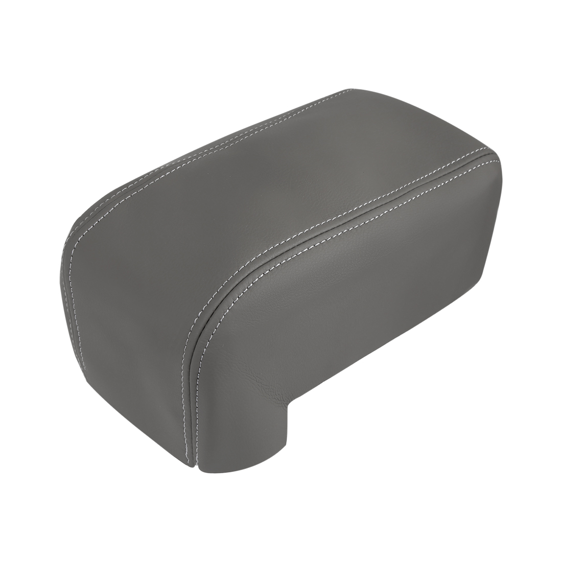 Center Console Armrest Cover Microfiber Leather Gray1 for 06-13 Hyundai Tucson