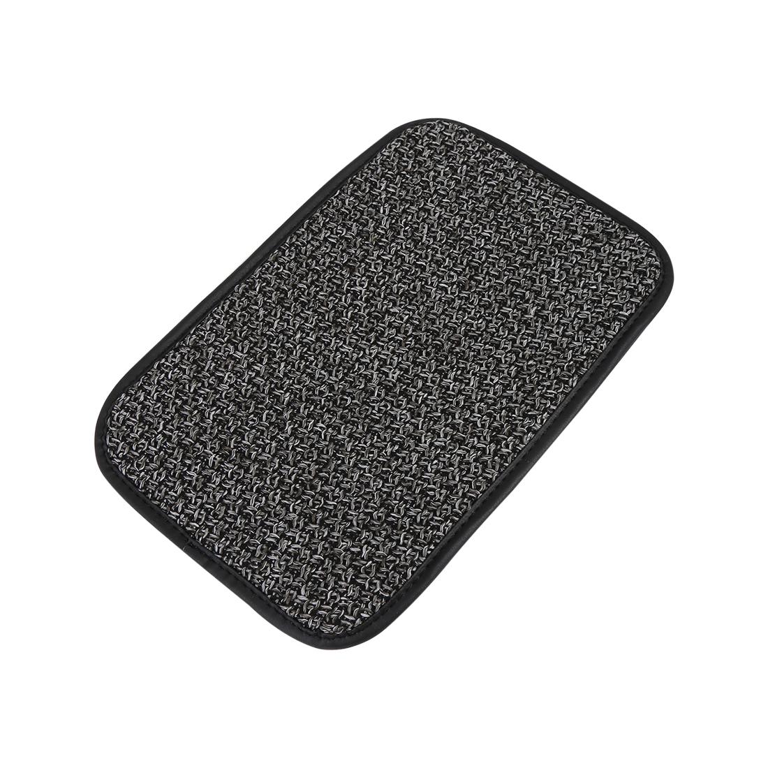 Universal Car Auto Center Console Lid Armrest Linen Cover Pad Gray