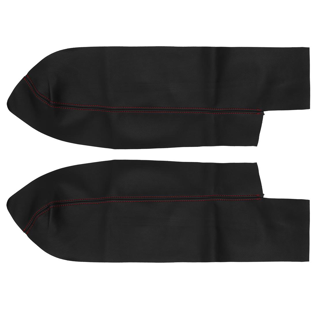 1 Pair Car Front Door Panels Armrest Cover Black for 07-12 Honda Cr-V CRV
