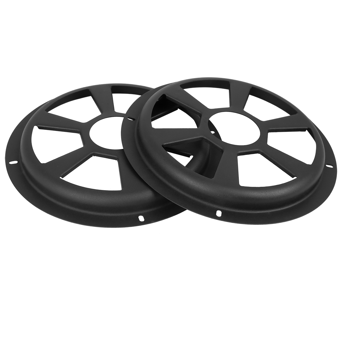 2pcs 8 Inch Black Car Audio Speaker Cover Hollow Mesh Subwoofer Grill Horn Guard