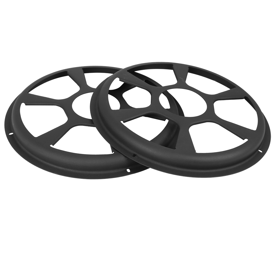2pcs 10 Inch Black Car Auto Speaker Cover Hollow Mesh Subwoofer Grill Horn Guard