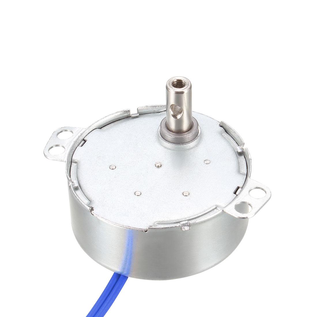 Electric Synchronous Synchron Motor Motor 100-127 VAC 50-60Hz CCW/CW 4W 5-6RPM