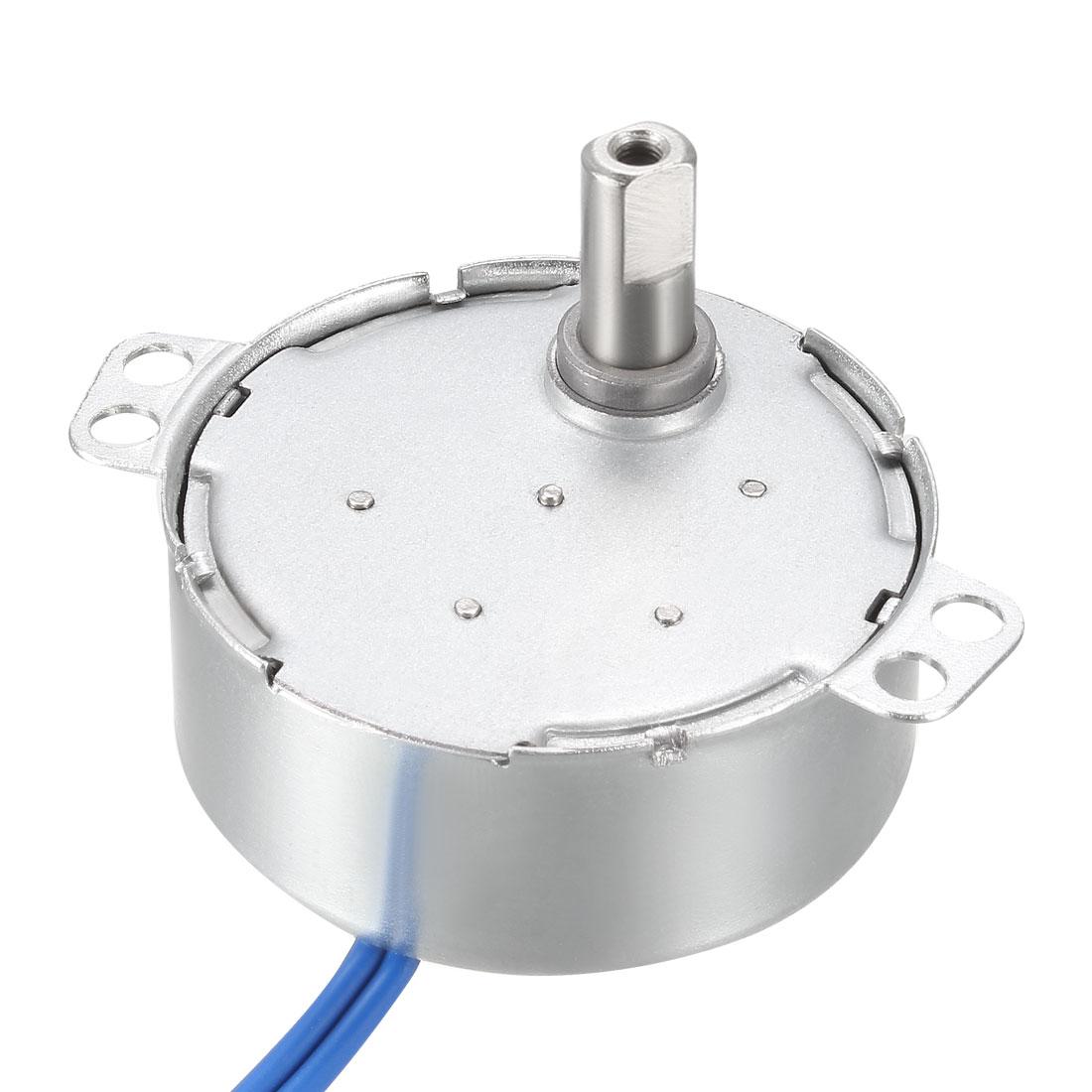Electric Synchronous Synchron Motor 100-127 VAC 50-60Hz CCW/CW 4W 2-2.4RPM