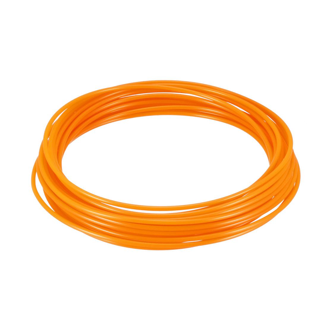 5 Meter/16 Ft PLA 3D Pen/3D Printer Filament, 1.75 mm Fluorescent Orange