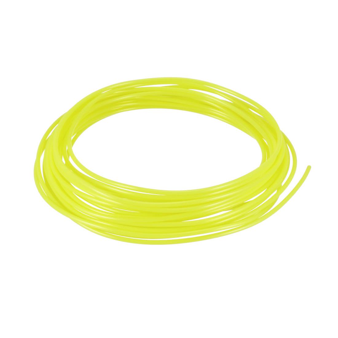 5 Meter/16 Ft PLA 3D Pen/3D Printer Filament, 1.75 mm Fluorescent Yellow