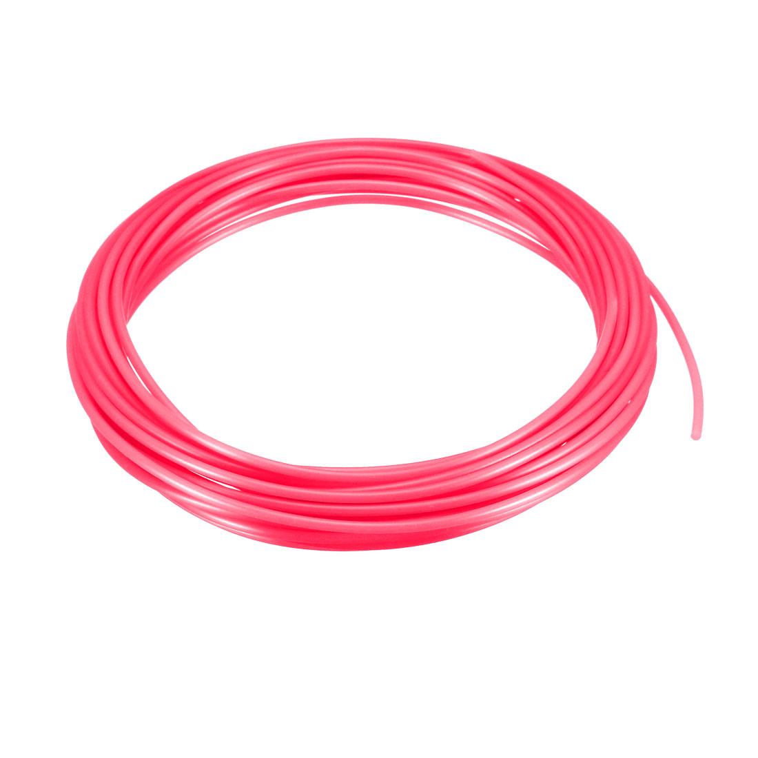 5 Meter/16 Ft PLA 3D Pen/3D Printer Filament, 1.75 mm Transparent Red