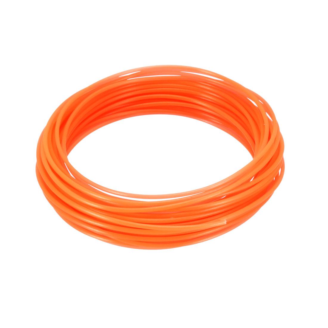 10 Meter/32.5 Ft PLA 3D Pen/3D Printer Filament, 1.75 mm Luminous Orange