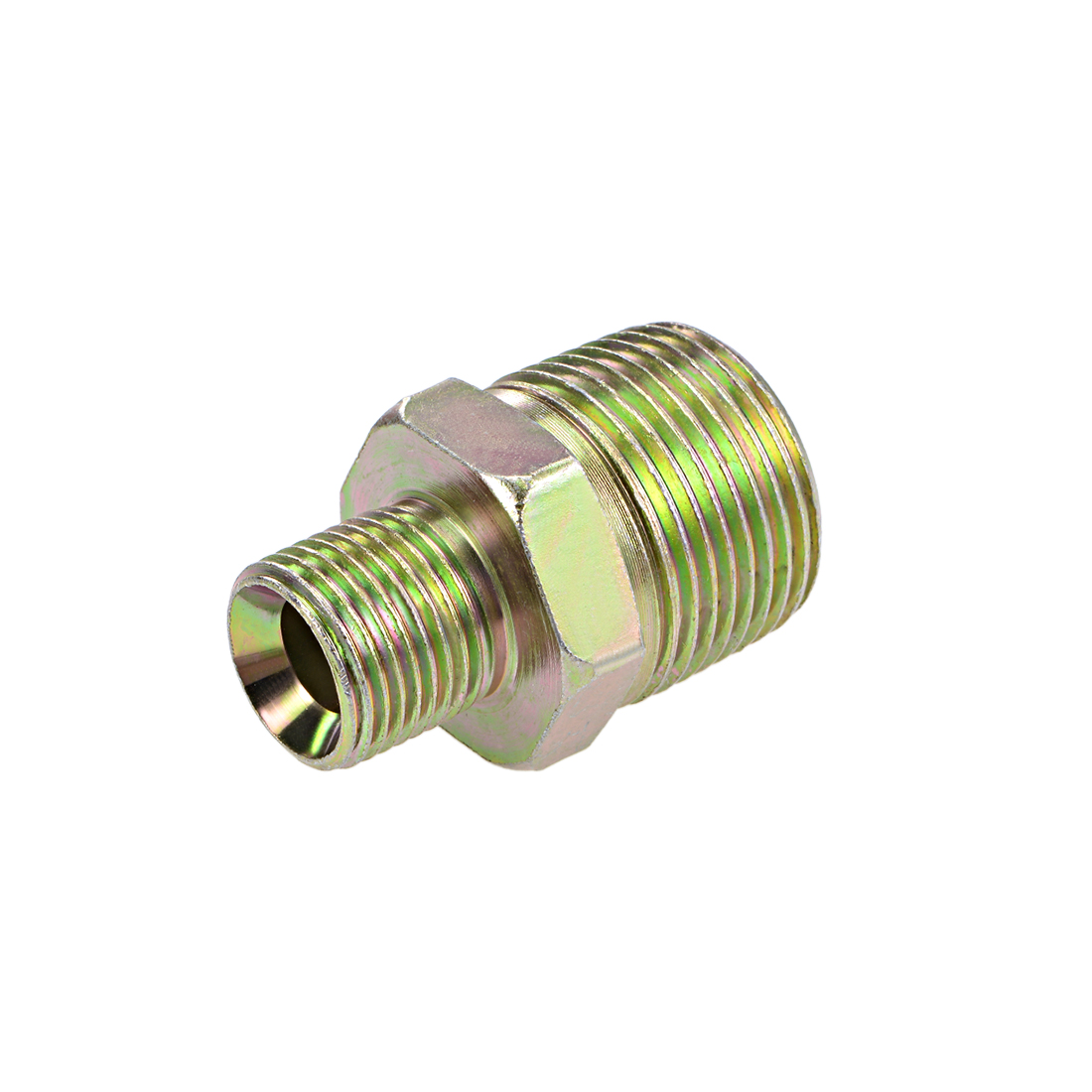 Reducing Pipe Fitting - Reducer Hex Nipple - 1 X 1/2 BSP Male Connector