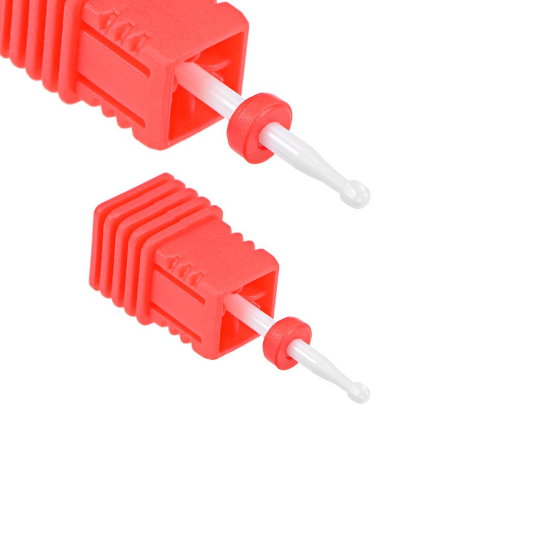 2pcs Ceramic Nail Drill Bit 3/32 Fine Grit Nails File Bit for Manicure Pedicure