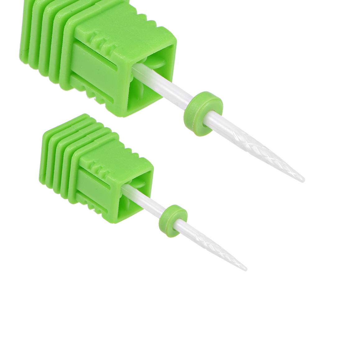 2pcs Ceramic Nail Drill Bits 3/32 inch (Coarse Grit) Polish Nails Cuticle