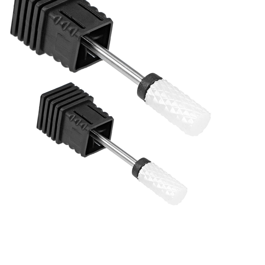2pcs Ceramic Nail Drill Bits 3/32 inch (Extra Coarse Grit) for Manicure Pedicure