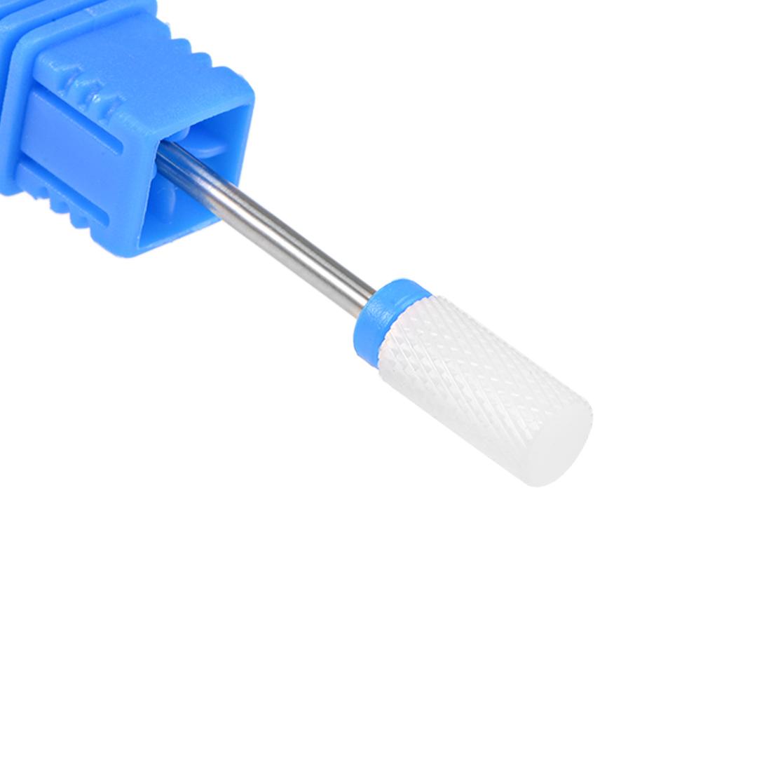 Ceramic Nail Drill Bits 3/32 inch (Medium Grit) Cuticle Gel Remove Blue