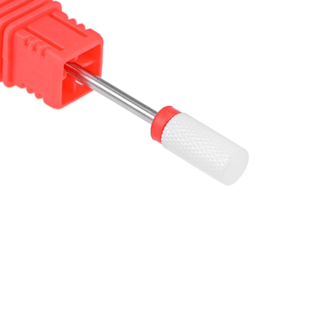 Ceramic Nail Drill Bits 3/32 inch Fine Grit Nails File Bit