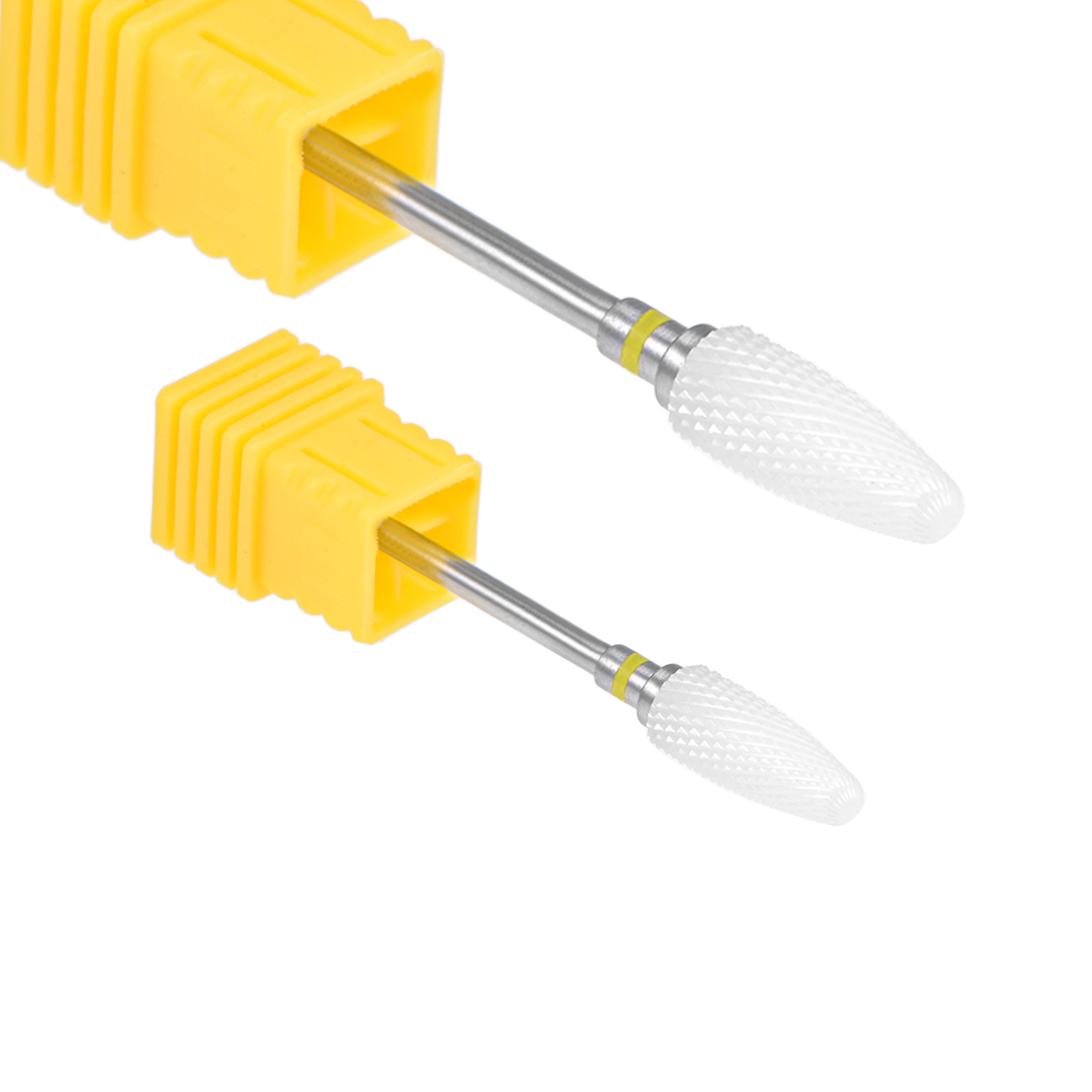 2pcs Ceramic Nail Drill Bits 3/32 inch (Extra Fine Grit) Cuticle Gel Remove