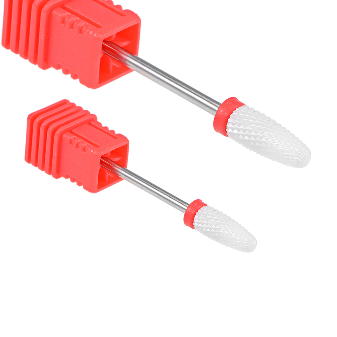 2pcs Ceramic Nail Drill Bits 3/32 inch (Fine Grit) Cuticle Nails File Bit