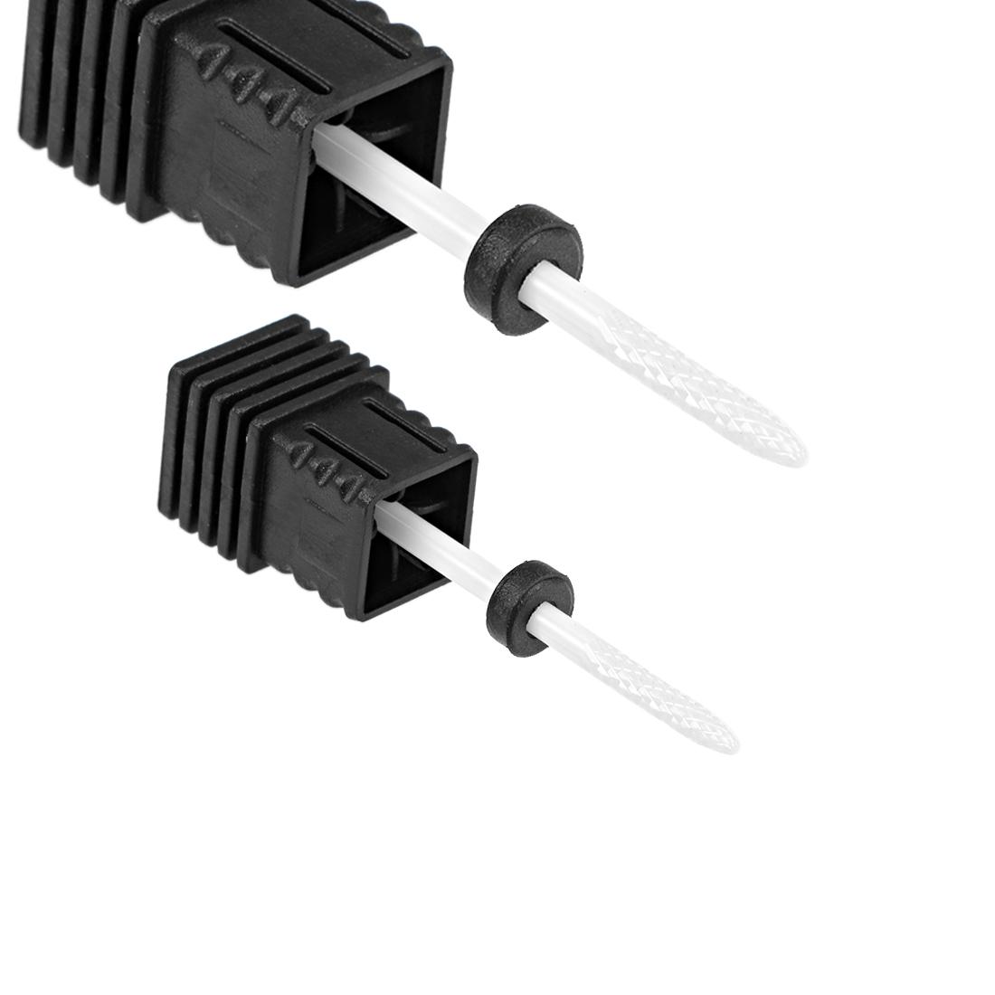 2pcs Ceramic Nail Drill Bits 3/32 inch (Extra Coarse Grit) Nails File Bit