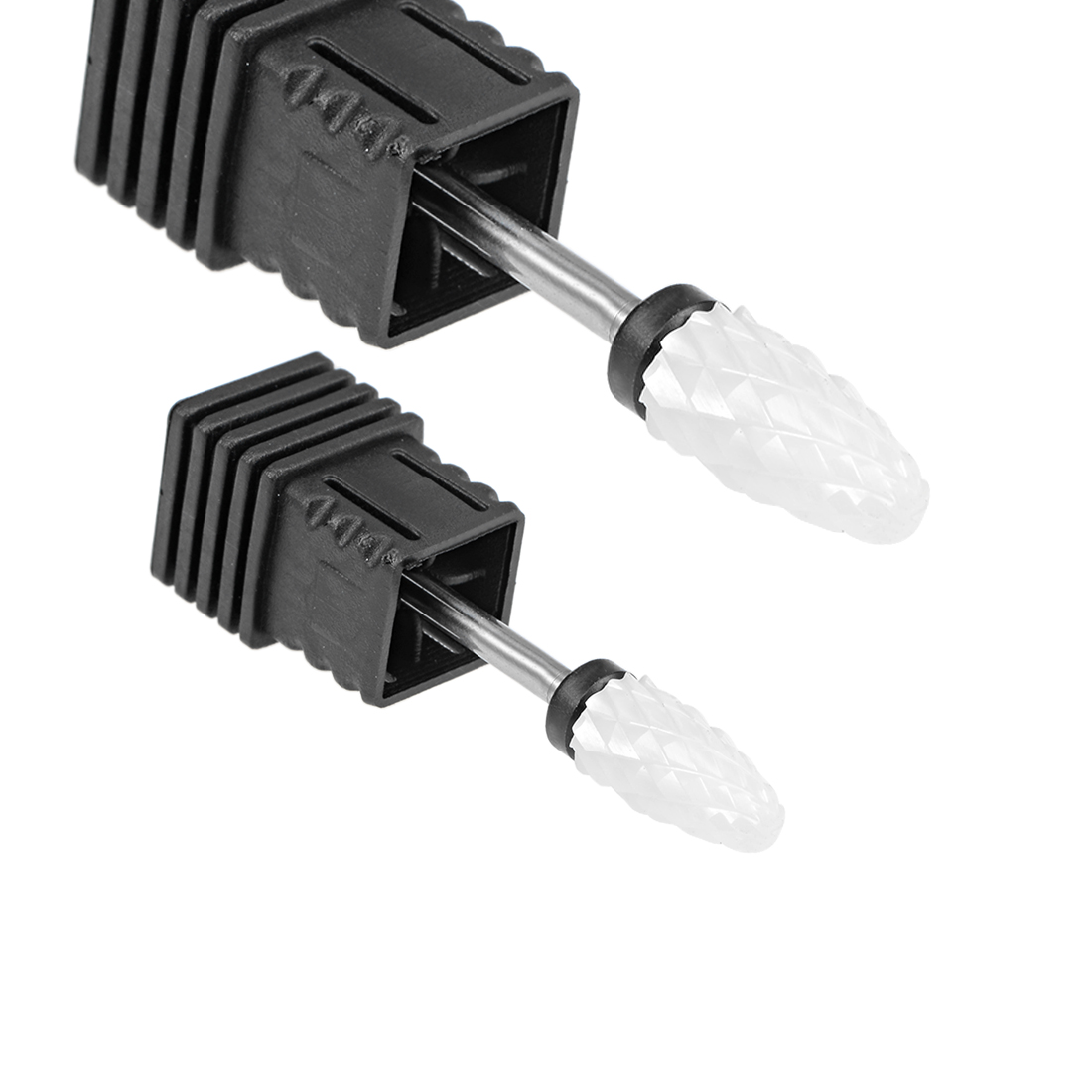 2pcs Ceramic Nail Drill Bits 3/32 inch (Extra Coarse Grit) Nails File Bit Black