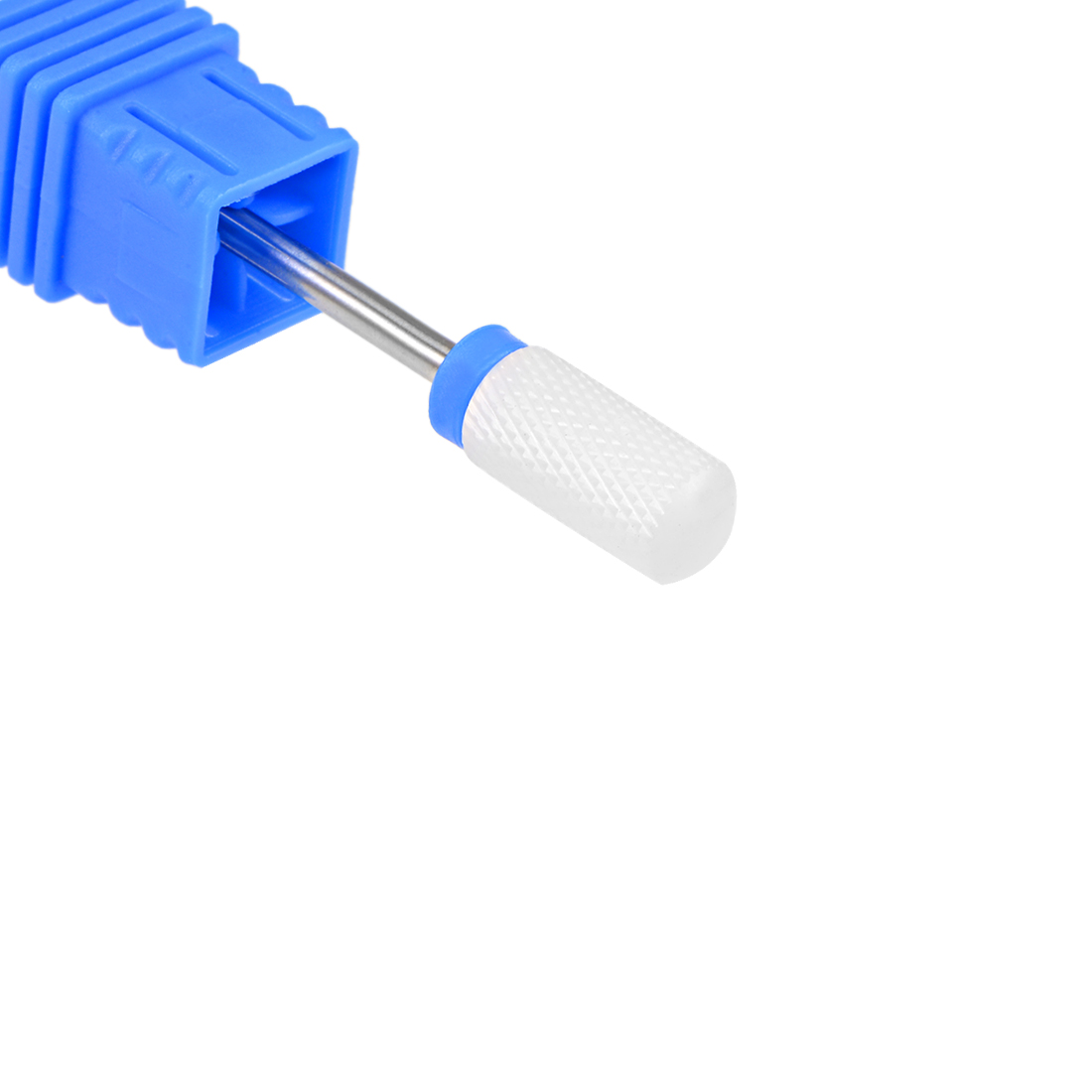 "Ceramic Nail Drill Bits 3/32"" (Medium Grit) Acrylic Cuticle Nails File Bit Blue"