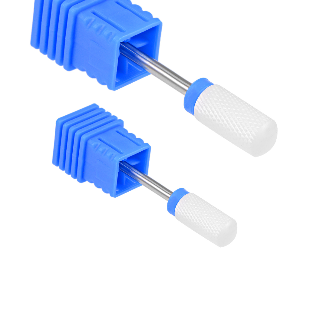 "2pcs Ceramic Nail Drill Bits 3/32"" (Medium Grit) Acrylic Nails File Bit Blue"