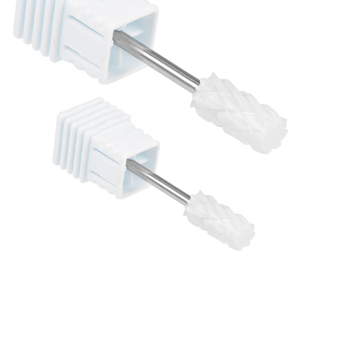 2pcs Ceramic Nail Drill Bits 3/32 (4X Coarse - XXXXC) Electric Nails File Bit