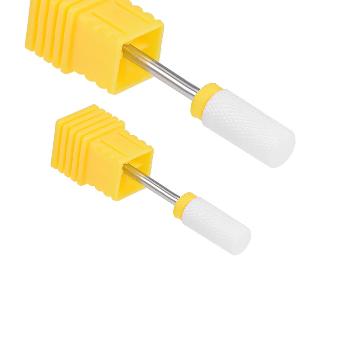 2pcs Ceramic Nail Drill Bits 3/32 inch (Extra Fine Grit) Electric Nails File Bit