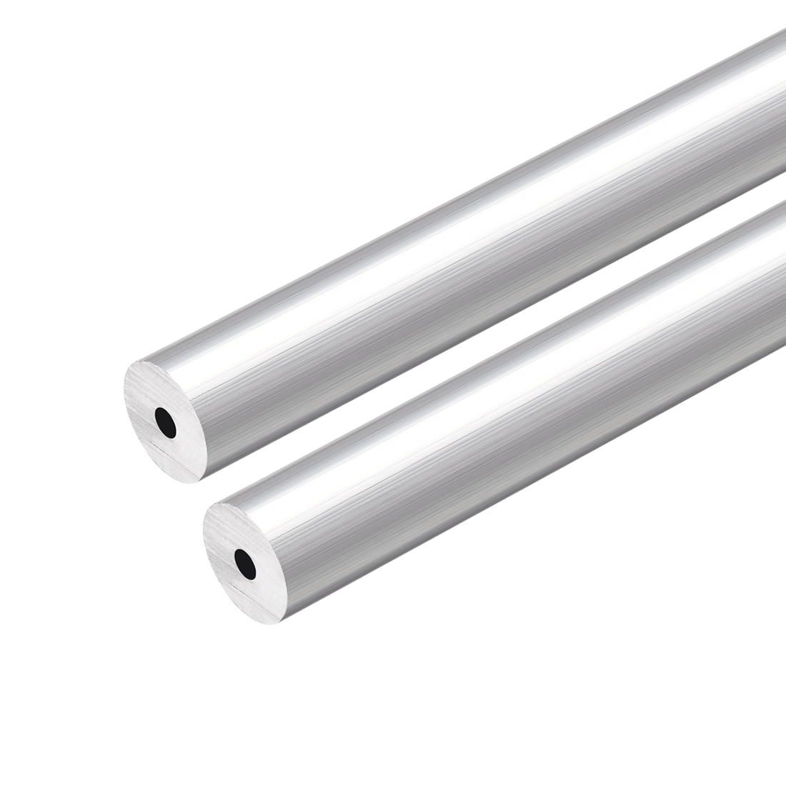 6063 Aluminum Round Tube 300mm Length 12mm OD 3mm Inner Dia Seamless Tubing 2pcs