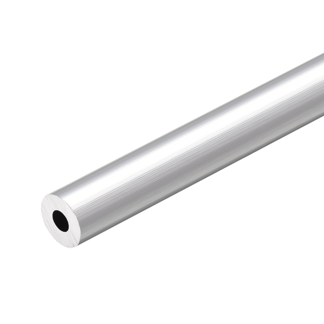6063 Aluminum Round Tube 300mm Length 12mm OD 5mm Inner Dia Seamless Tubing
