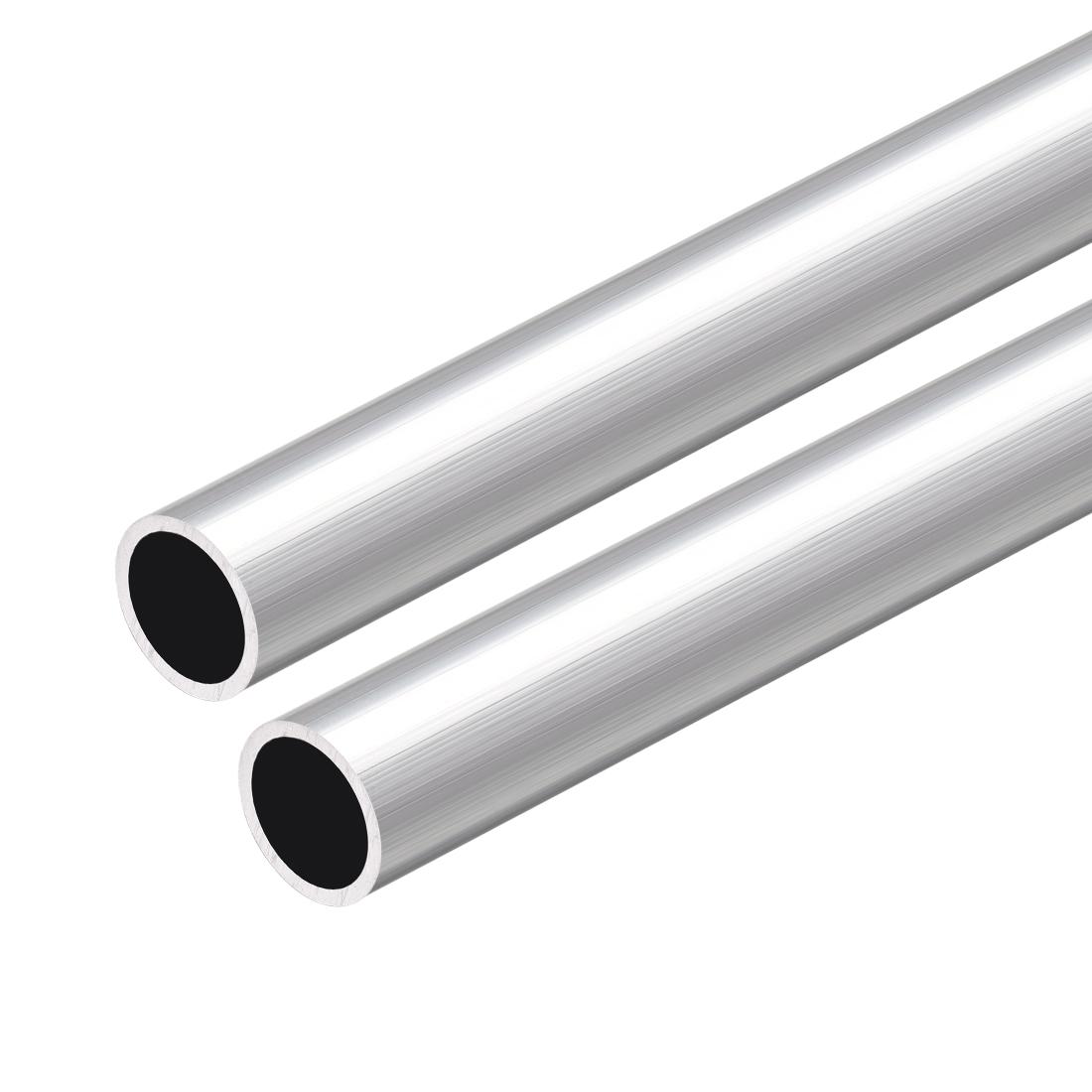 6063 Aluminum Round Tube 300mm Length 12mm OD 10mm Inner Dia Seamless Tube 2 Pcs