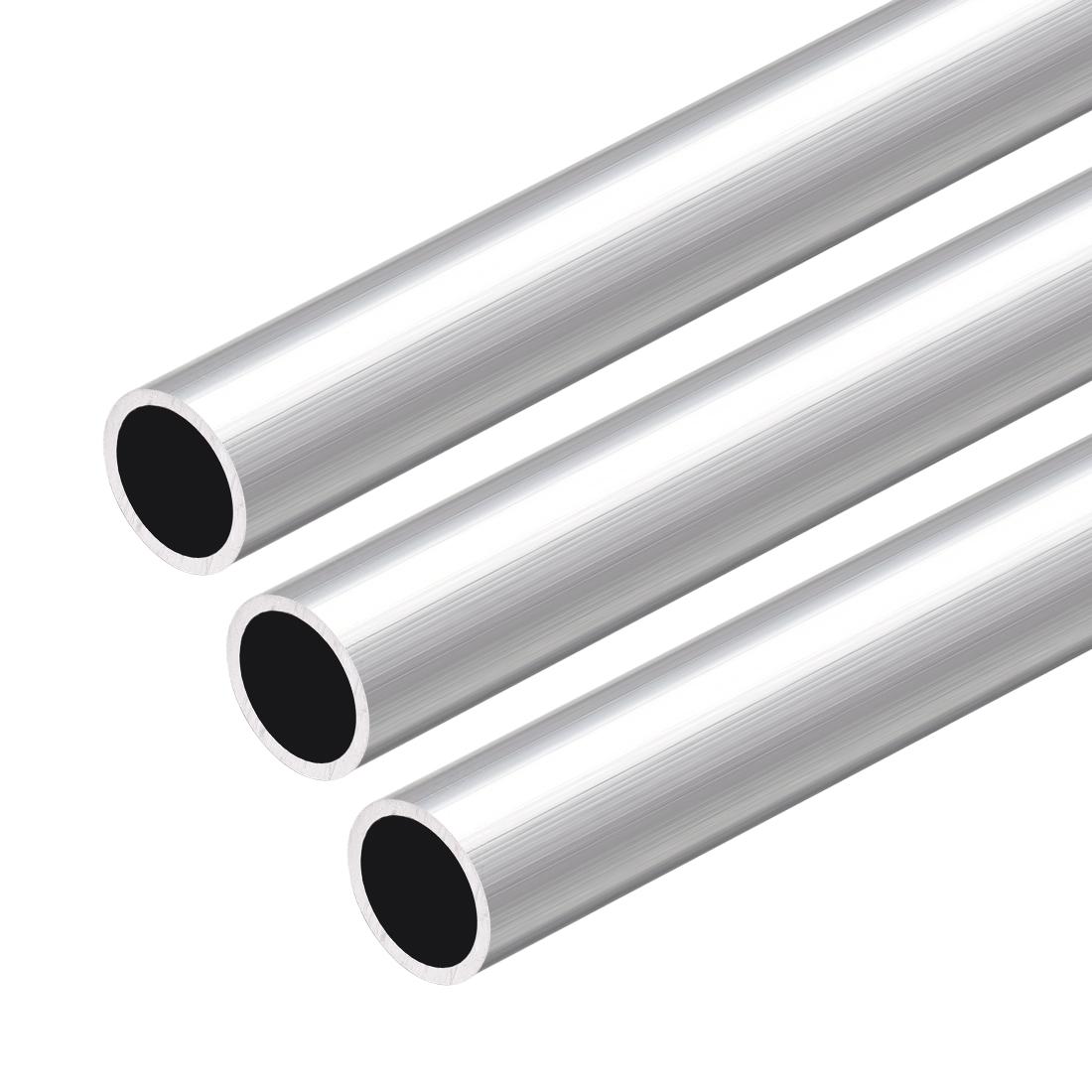6063 Aluminum Round Tube 300mm Length 12mm OD 10mm Inner Dia Seamless Tube 3 Pcs