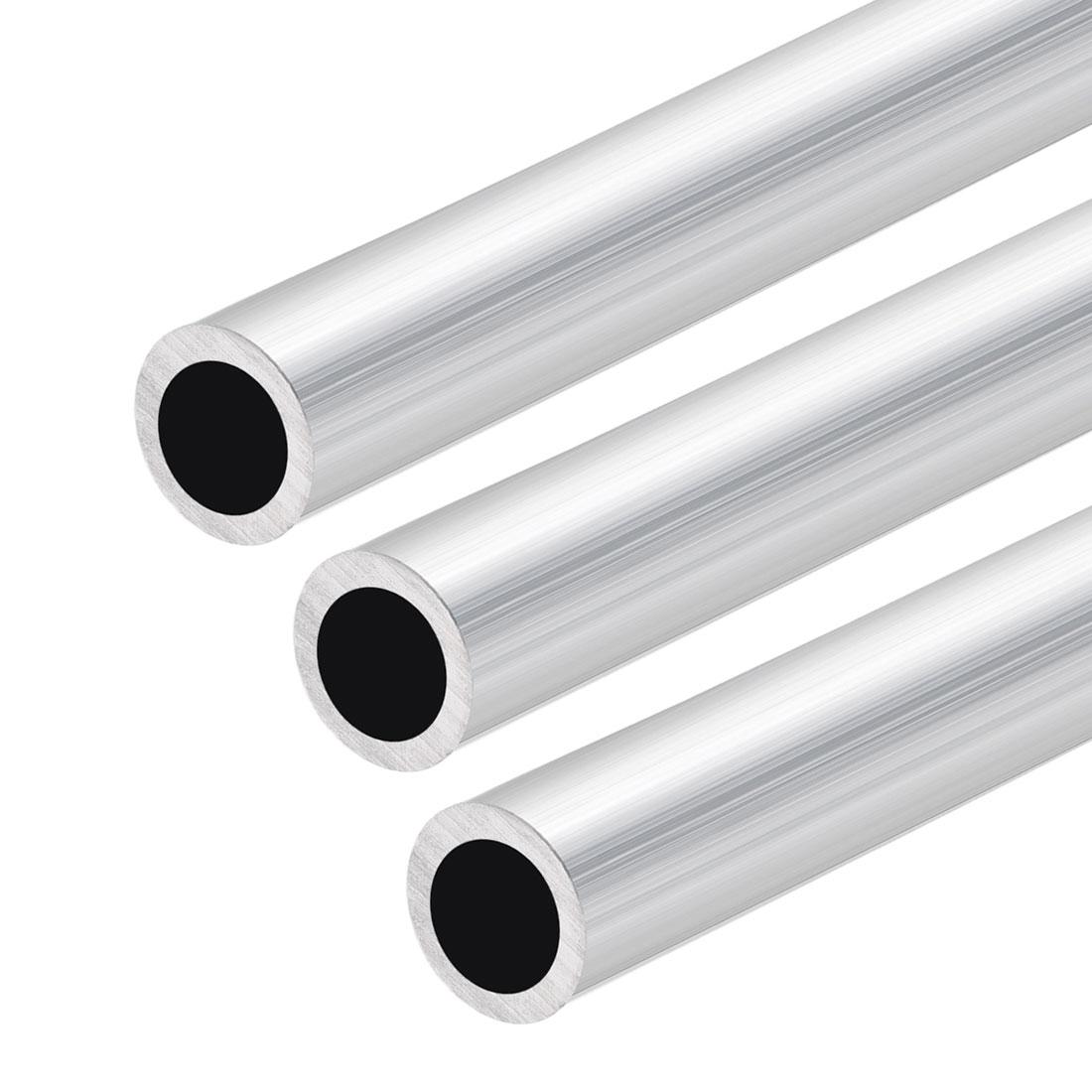 6063 Aluminum Tubing 300mm Length 12.7mm OD 8.8mm Inner Dia Seamless Tube 3pcs