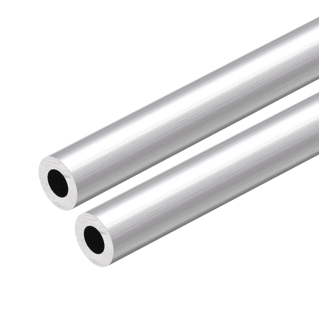 6063 Aluminum Round Tube 300mm Length 13mm OD 7mm Inner Dia Seamless Tubing 2pcs