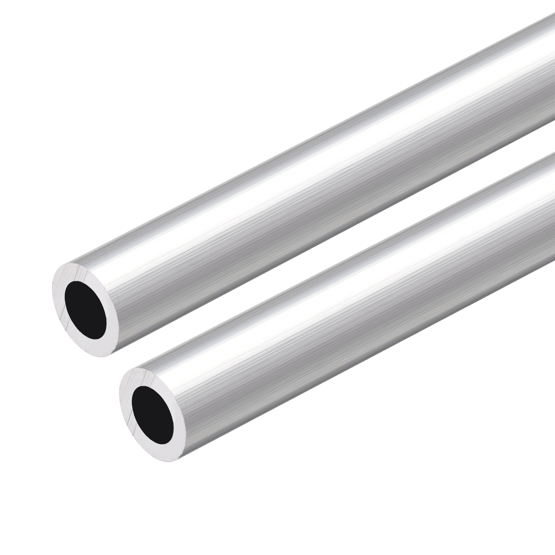 6063 Aluminum Round Tube 300mm Length 13mm OD 8mm Inner Dia Seamless Tubing 2pcs