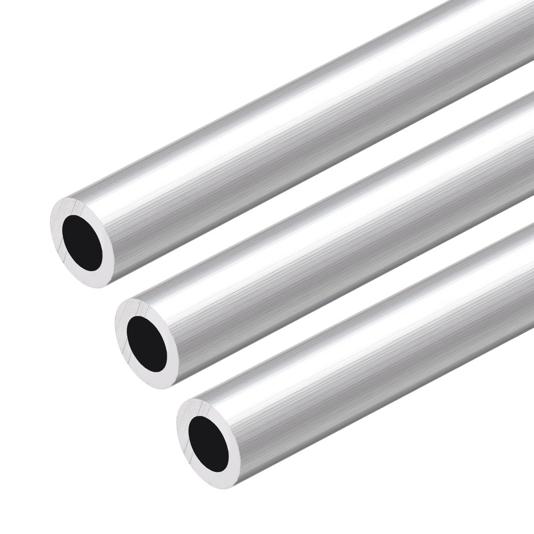 6063 Aluminum Round Tube 300mm Length 13mm OD 8mm Inner Dia Seamless Tubing 3pcs