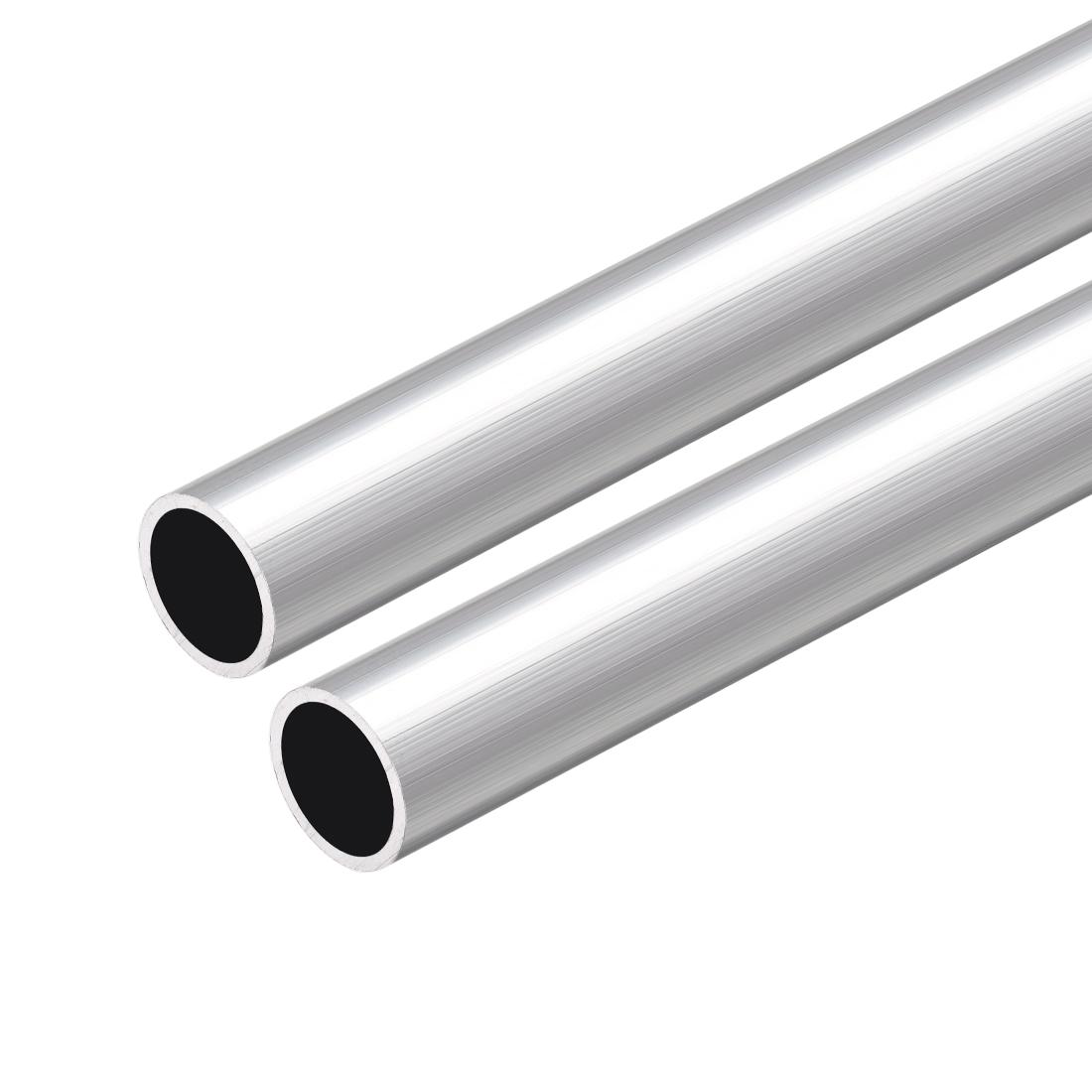 6063 Aluminum Round Tube 300mm Length 13mm OD 11mm Inner Dia Seamless Tube 2 Pcs
