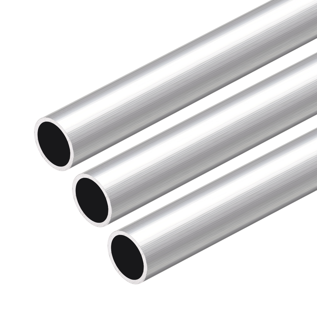 6063 Aluminum Round Tube 300mm Length 13mm OD 11mm Inner Dia Seamless Tube 3 Pcs