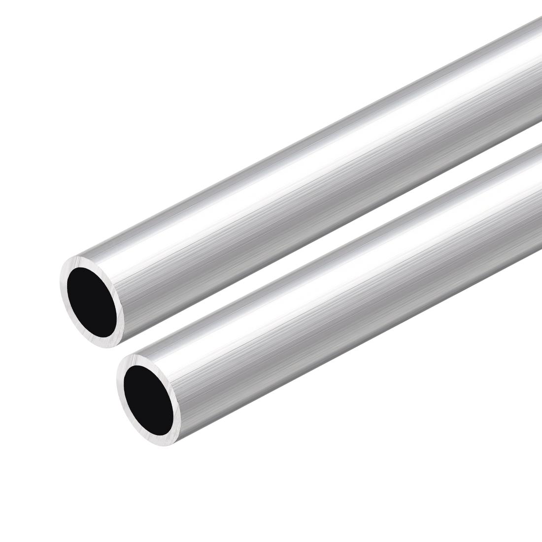 6063 Aluminum Round Tube 300mm Length 14mm OD 10mm Inner Dia Seamless Tube 2 Pcs