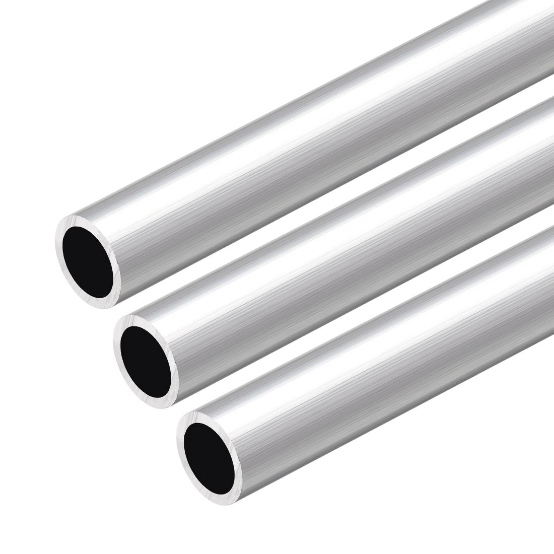 6063 Aluminum Round Tube 300mm Length 14mm OD 10mm Inner Dia Seamless Tube 3 Pcs