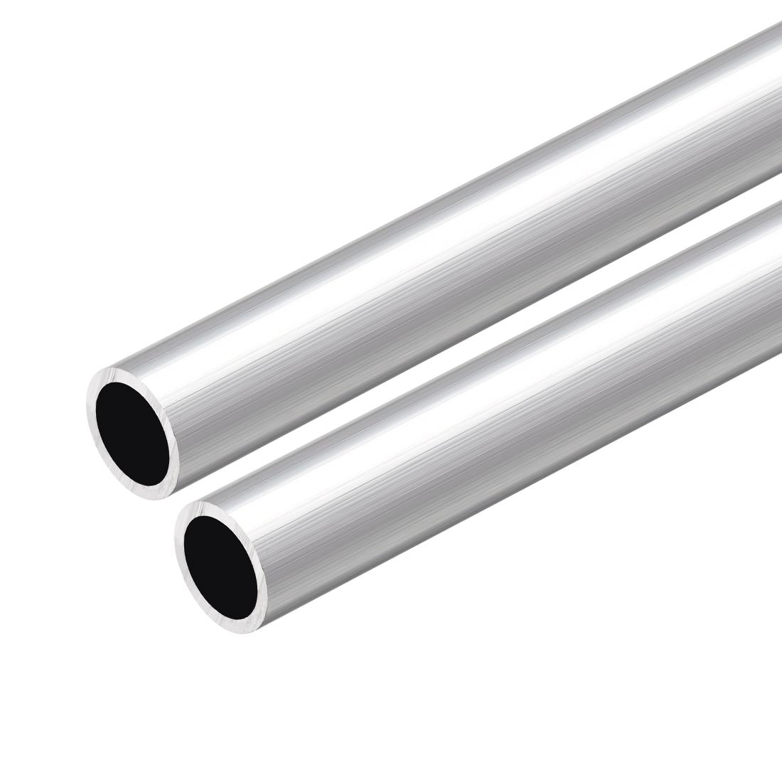 6063 Aluminum Round Tube 300mm Length 14mm OD 11mm Inner Dia Seamless Tube 2 Pcs