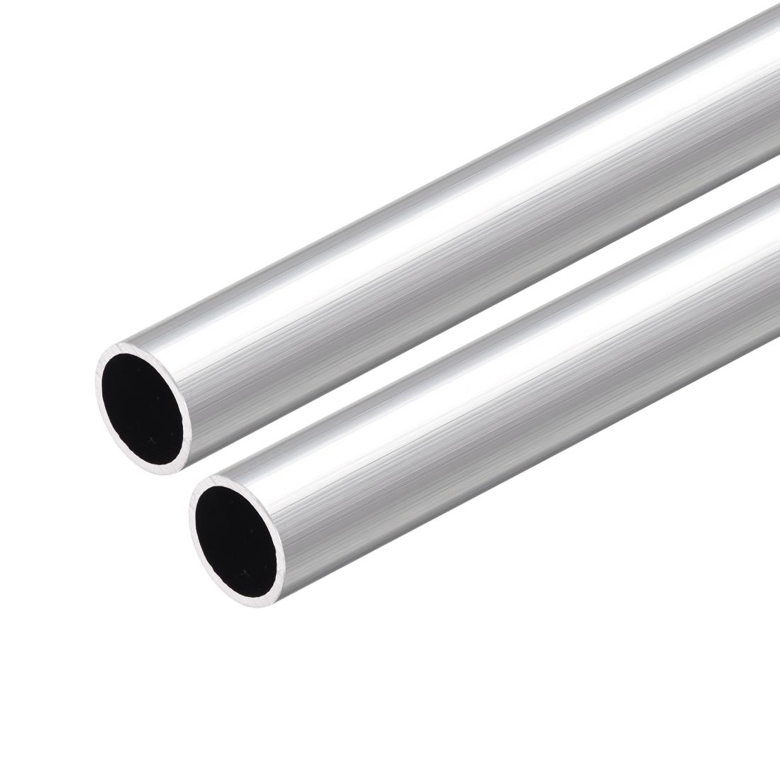 6063 Aluminum Round Tube 300mm Length 14mm OD 12mm Inner Dia Seamless Tube 2 Pcs