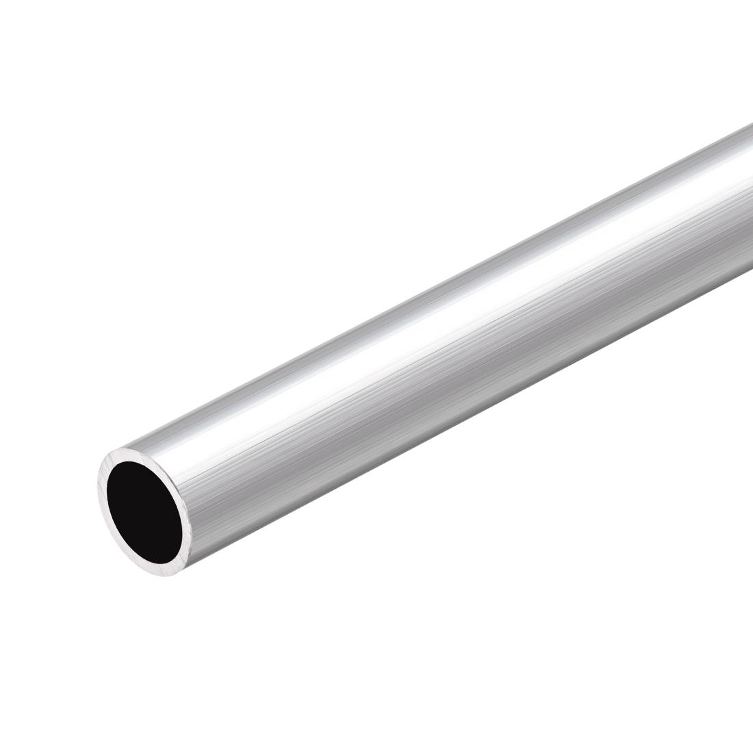 6063 Aluminum Round Tube 300mm Length 15mm OD 12mm Inner Dia Seamless Tubing