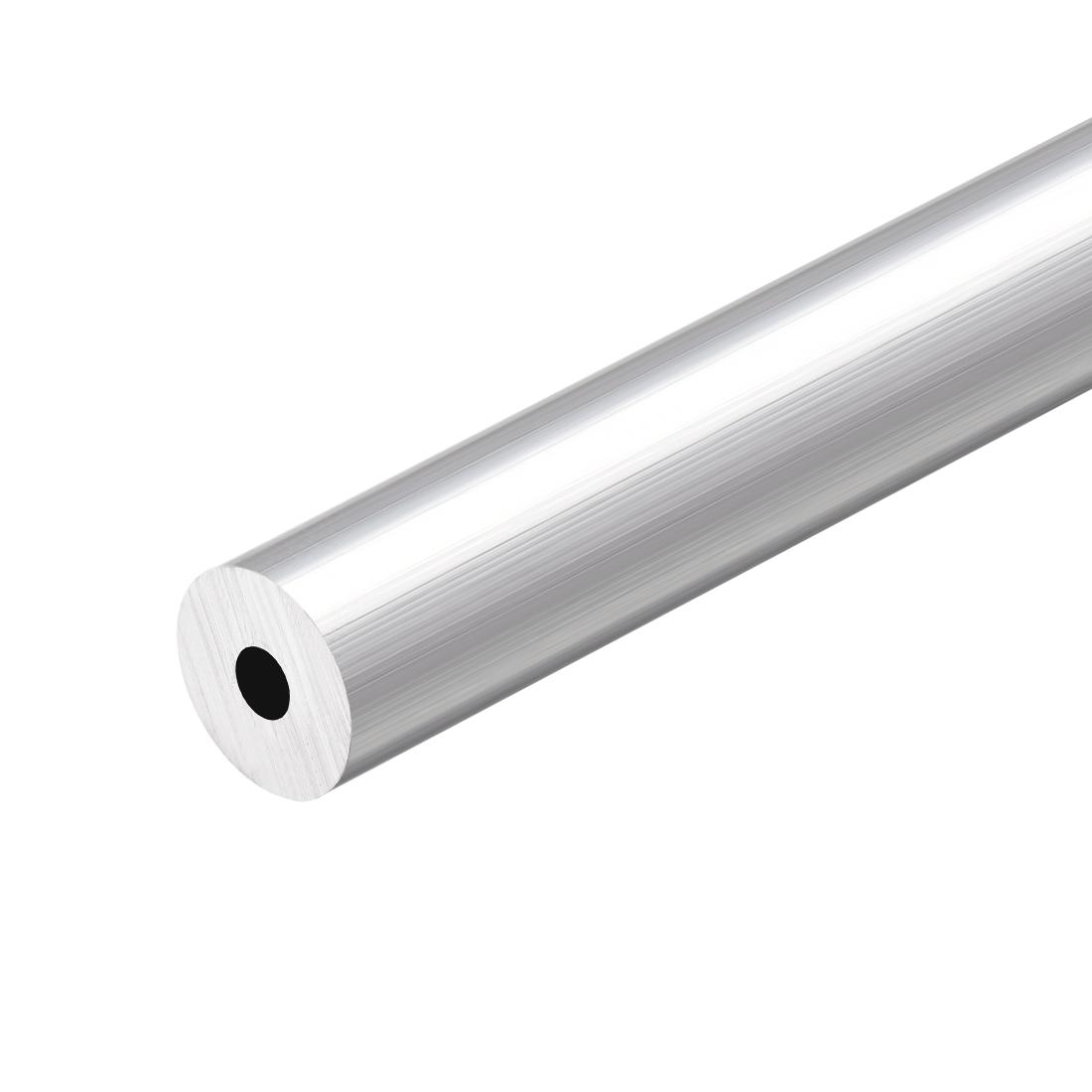 6063 Aluminum Round Tube 300mm Length 16mm OD 5mm Inner Dia Seamless Tubing