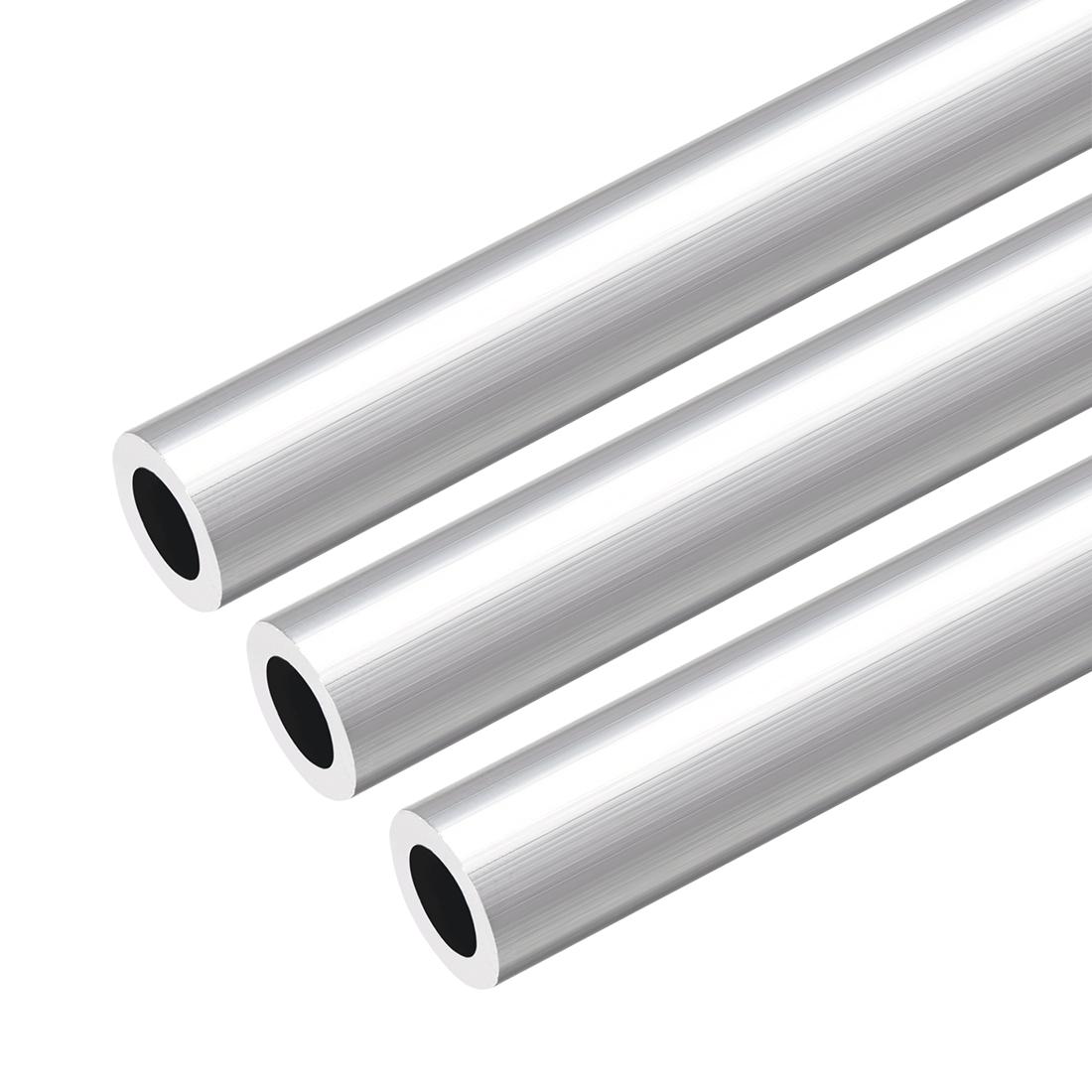 6063 Aluminum Round Tube 300mm Length 16mm OD 10mm Inner Dia Seamless Tube 3 Pcs