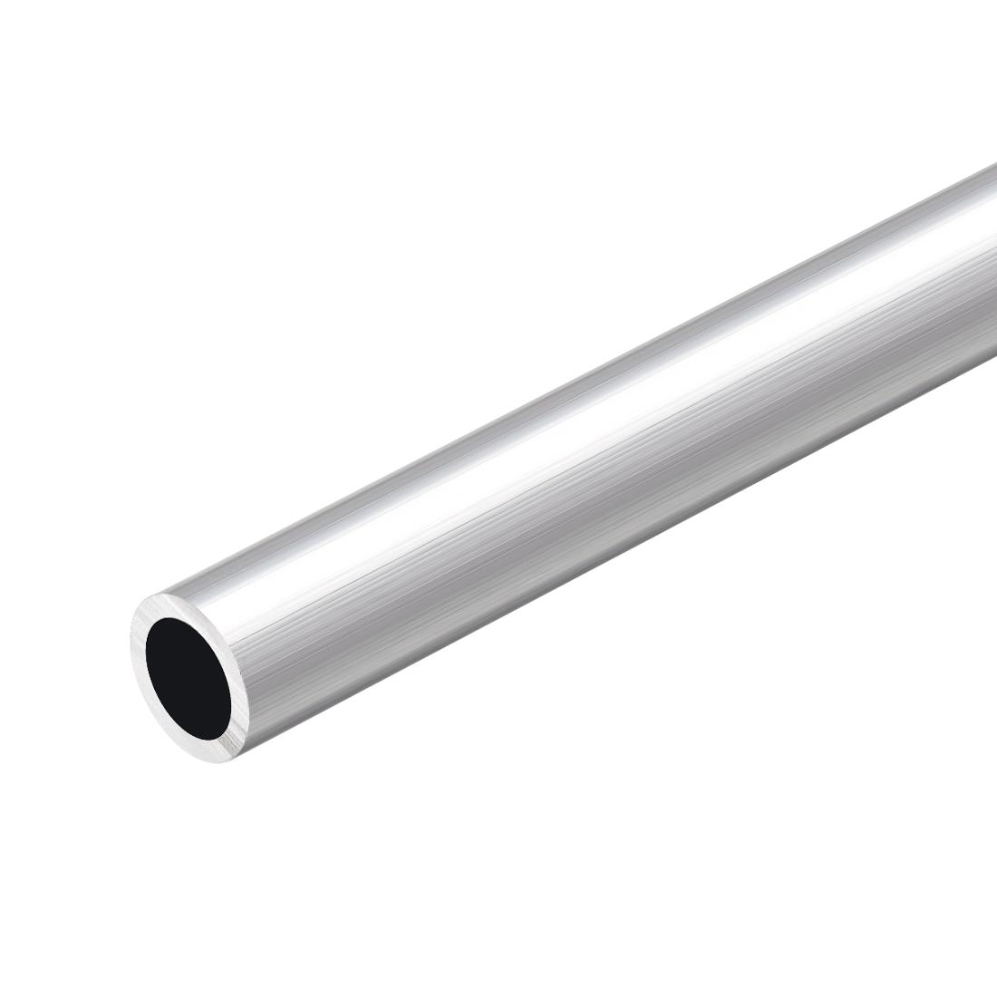 6063 Aluminum Round Tube 300mm Length 16mm OD 12mm Inner Dia Seamless Tubing
