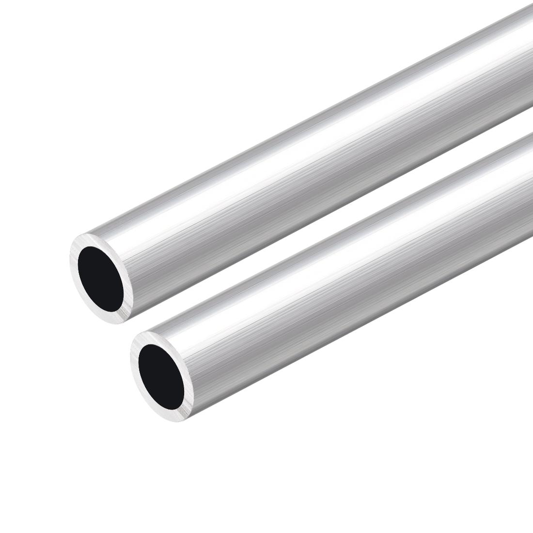 6063 Aluminum Round Tube 300mm Length 16mm OD 12mm Inner Dia Seamless Tube 2 Pcs
