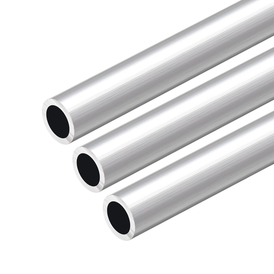 6063 Aluminum Round Tube 300mm Length 16mm OD 12mm Inner Dia Seamless Tube 3 Pcs