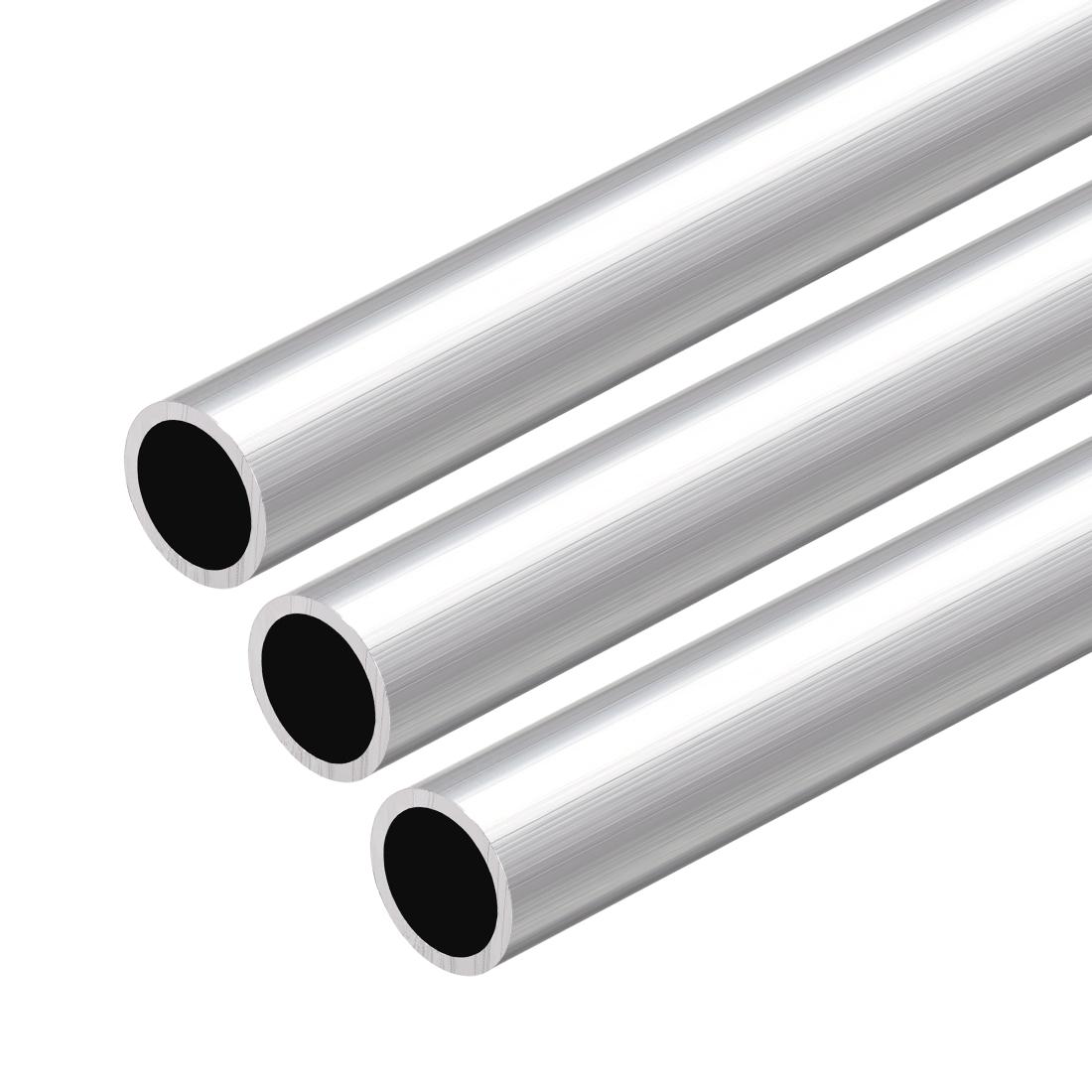 6063 Aluminum Round Tube 300mm Length 16mm OD 13mm Inner Dia Seamless Tube 3 Pcs