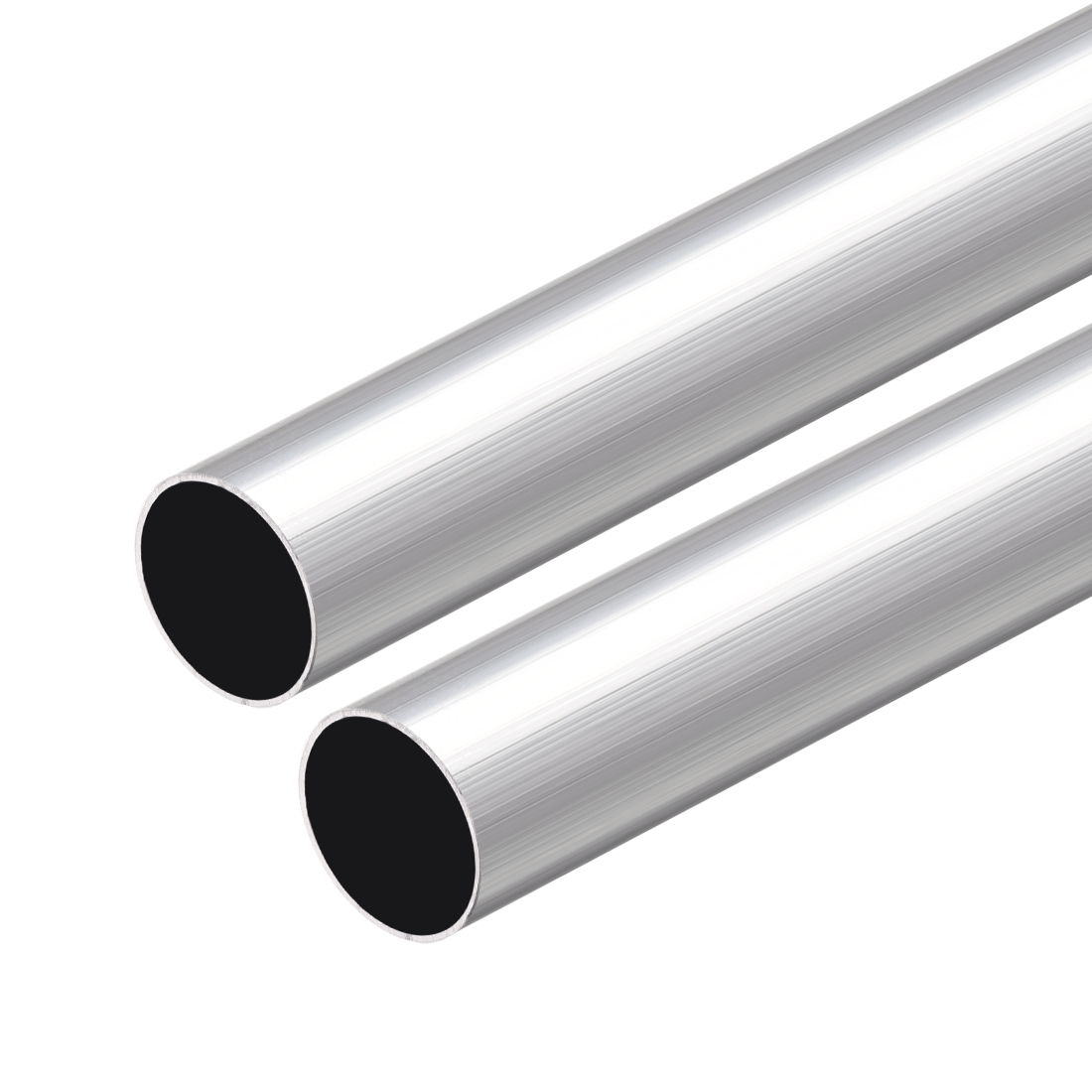 6063 Aluminum Round Tube 300mm Length 16mm OD 15mm Inner Dia Seamless Tube 2 Pcs