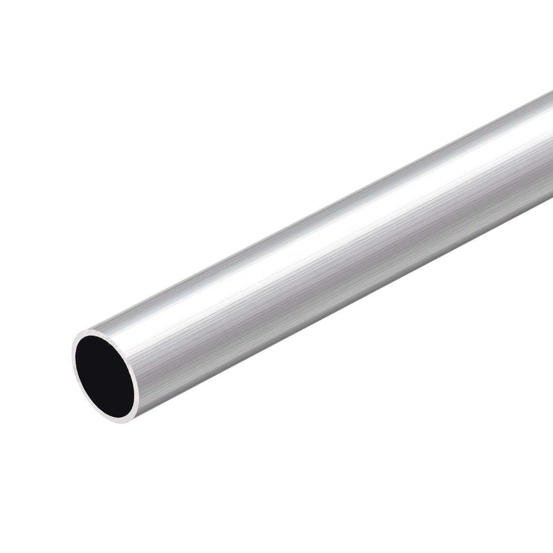 6063 Aluminum Round Tube 300mm Length 17mm OD 14mm Inner Dia Seamless Tubing