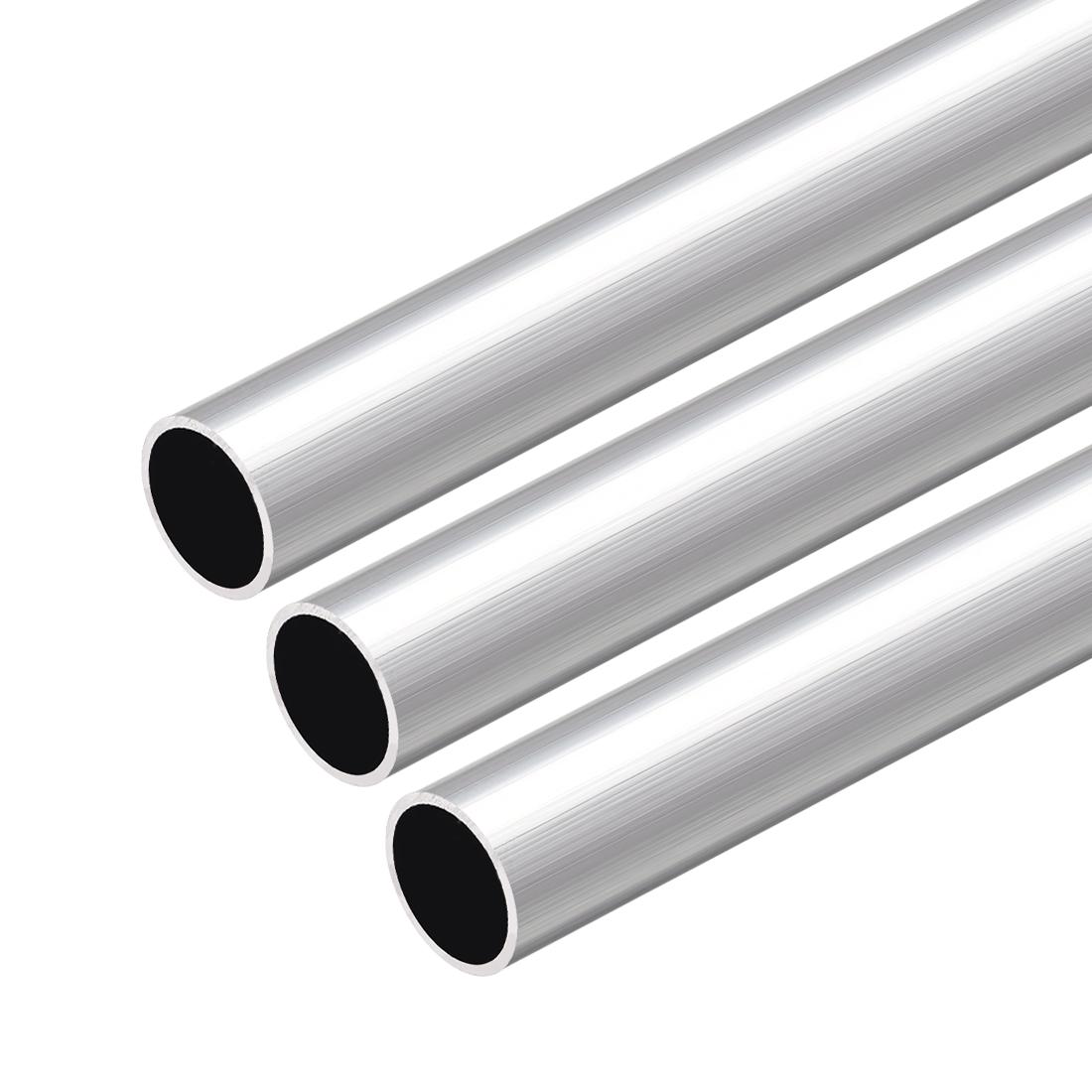 6063 Aluminum Round Tube 300mm Length 17mm OD 14mm Inner Dia Seamless Tube 3 Pcs